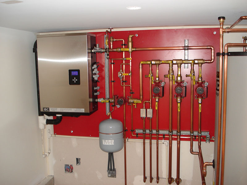 installed IBC boiler.  Wall mounted,