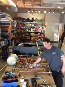 building a boiler board in our shop.  All boilers are custom built in our shop for quality control